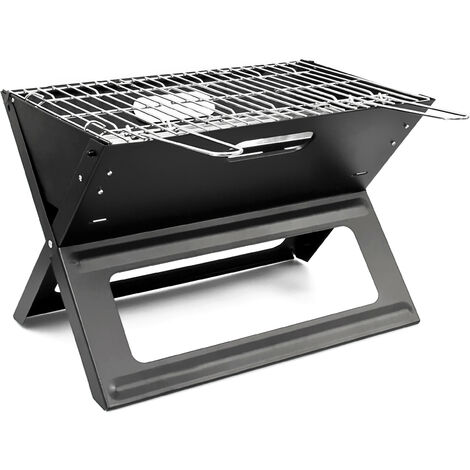 Portable Foldable Picnic Grill Stainless Steel Barbecue BBQ 45.5x30x30.5cm Grilling Charcoal