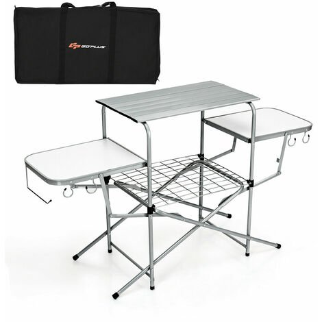 """main image of """"Portable Folding Extended Camping Table Aluminum Party Camping Picnics BBQ"""""""