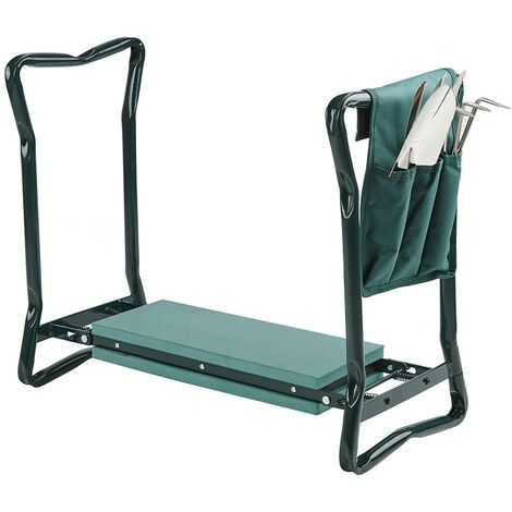 Portable Folding Gardening Kneeler Seat Stool Cushion Knee Pad & Garden Tool Set