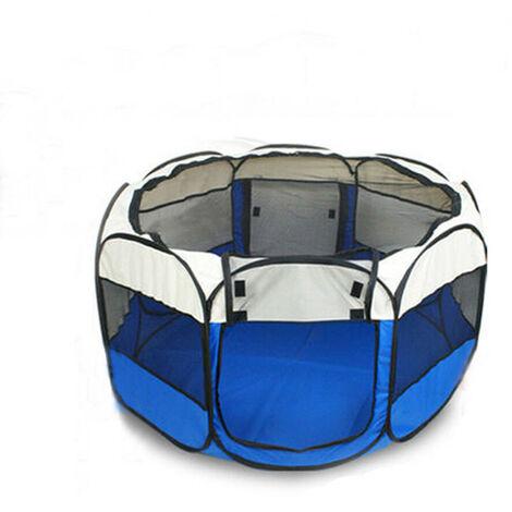 Portable Folding Pet Tent Cage Playpen Fence 73x73x43cm