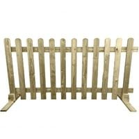 Portable Freestanding Treated Wooden 6ft Picket Fence Panel - 3FT (900mm) high