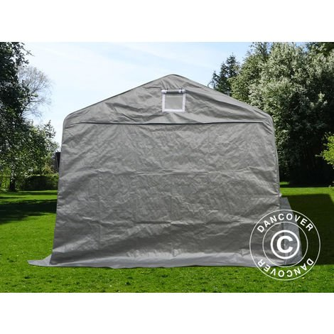 Portable garage Garage tent Basic 3.3x7.2x2.4 m PE, Grey