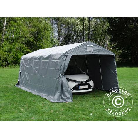 Portable Garage Garage tent PRO 3.3x6x2.4 m PVC, Grey