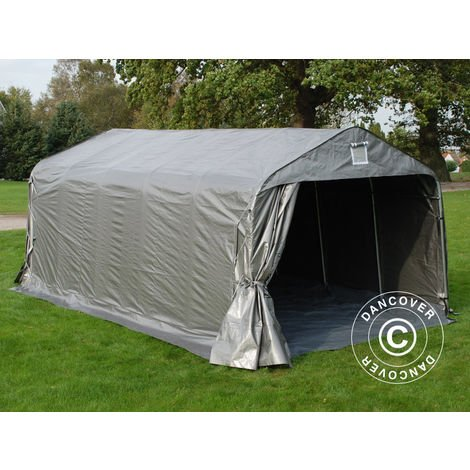 Portable Garage Garage tent PRO 3.6x6x2.68 m PE, with ground cover, Grey