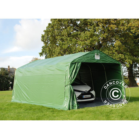 Portable Garage Garage tent PRO 3.6x6x2.68 m PVC, with ground cover, Green/Grey