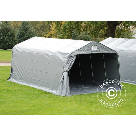 Portable Garage Garage tent PRO 3.6x6x2.68 m PVC, with ground cover, Grey