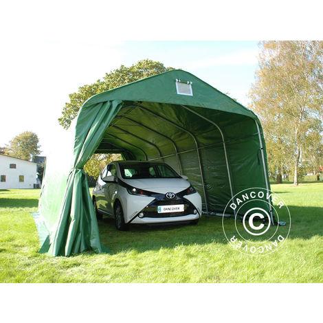 Portable Garage Garage tent PRO 3.6x7.2x2.68 m, PVC, Green
