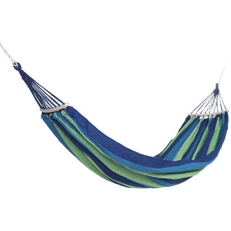 Portable Hammock Garden Travel Camping Swing Hanging Lazy Beds green 190x150cm with Stick