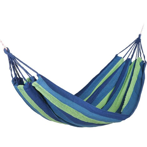 Portable Hammock Outdoor Garden Camping Travel Swing Hanging Bed green 190x100cm without Stick