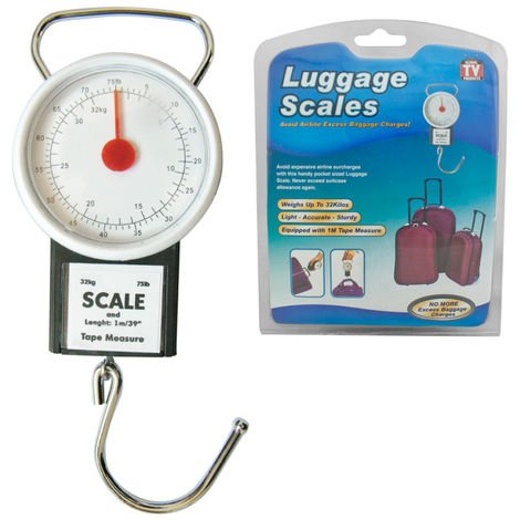 Portable Handheld Luggage Scales Balance Weighing Suitcase Up To 32 Kilos