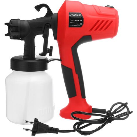 Portable High Pressure Electric Spray Disinfection Water Jet (Red, EU Plug)
