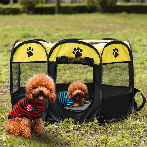 Portable Kitten Playpen Folded Puppy Rabbit Playpen Indoor Hamster Cage Sidewall