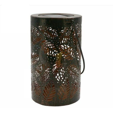 Portable Lantern, Waterproof Garden Decoration Sheet Lamp with Suspended Solar Lamp, Solar Lantern (Leaf Type) -