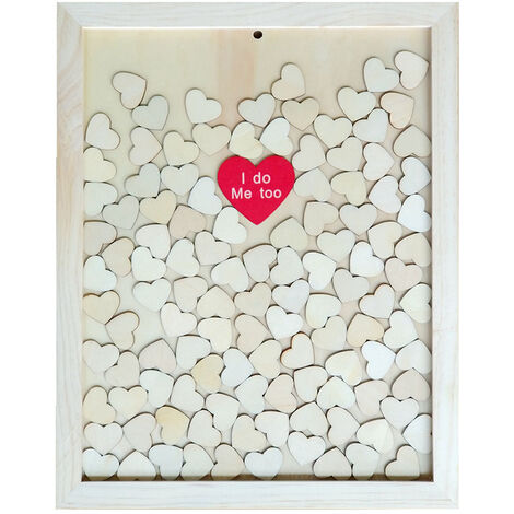 Portable Originalite Loving-Coeur Copeau De Bois De Mariage Birthday Party Supplies Decoratif Cadre Photo