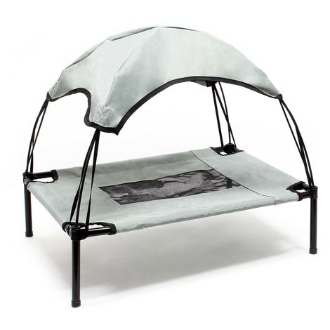 Portable Outdoor Relax Pet Bed Canopy Dog Bed L Grey