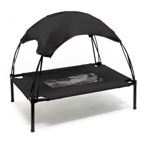 Portable Outdoor Relax Pet Bed Canopy Dog Bed M Black
