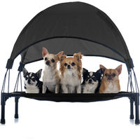 Portable Outdoor Relax Pet Bed Canopy Dog Bed S Black