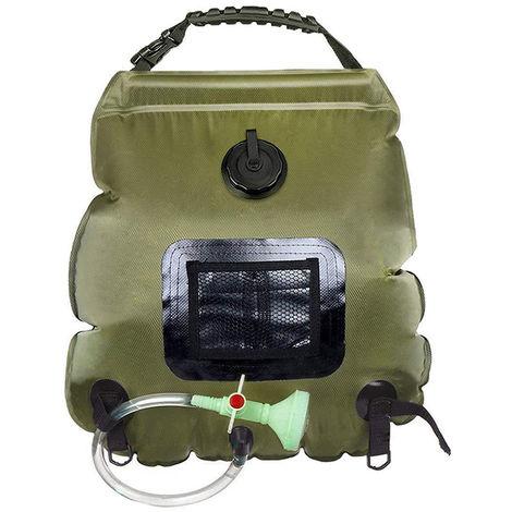 Portable Outdoor Solar Hot Shower Bag Shower Bag Camping Shower Bath Water Bag 20L Heating Camping Shower Bag