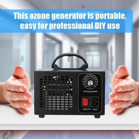 Portable Ozone Machine Generator Air Filter Purifier with Timing Switch Ozonizer Ozonator