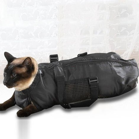 """main image of """"portable pet cat grooming beauty pet bag breathable cat bathing bag carrying case"""""""