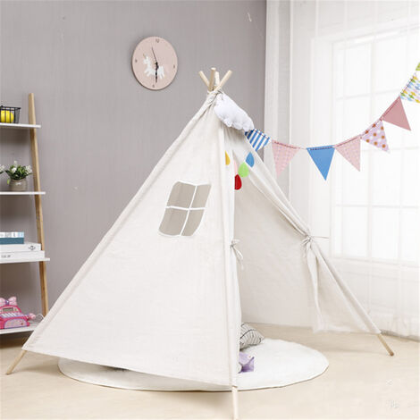 """main image of """"Portable Playhouse Sleeping Dome Tent Children Play House White"""""""