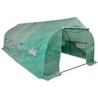 Portable Polytunnel Greenhouse Steel Frame Walk-in 18 m²