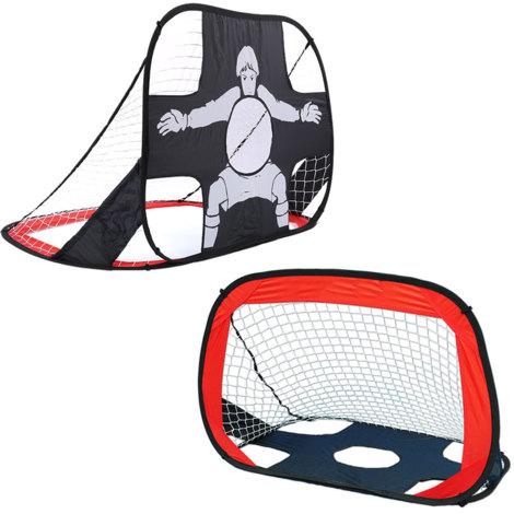 Portable Pop-Up Double Side Soccer Net Goal Post Target Shot Play Match Training