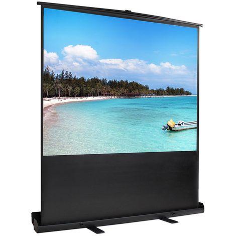 Portable Projection Screen, Floor Projector Screen, 163 x 123 cm (64 x 48 inch), Material: White matte, Aluminium alloy