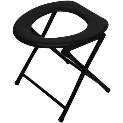 Portable Renforcé Chaise de Toilette Pliable Voyage Camping Escalade Pêche Mate Chaise d'Activités Extérieures Accessoires