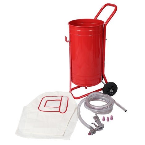 Portable Sandblaster with 30L Storage Tank, Wheels and Accessories