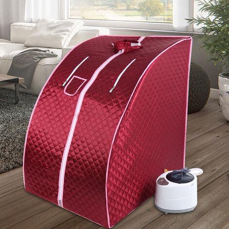 Portable Sauna Thérapeutique Vapeur Spa Chaise Maison Relax Rouge