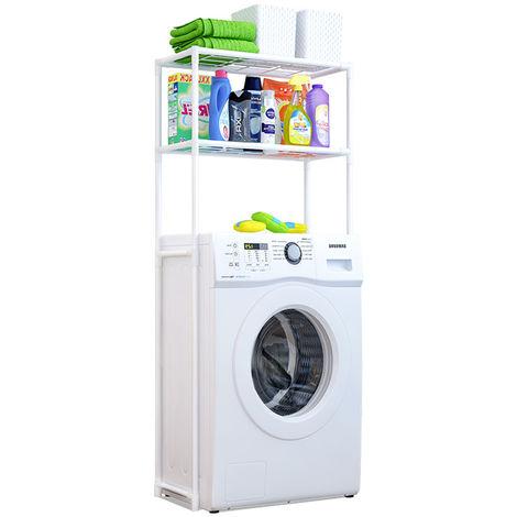 Portable Storage Shelf Organizer 2 Layer Washing Machine Rack