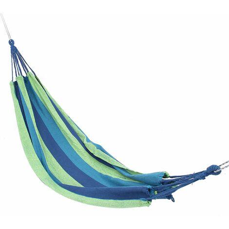 "main image of ""Portable swing hammock outdoor canvas hanging garden Max 600kg Blue"""