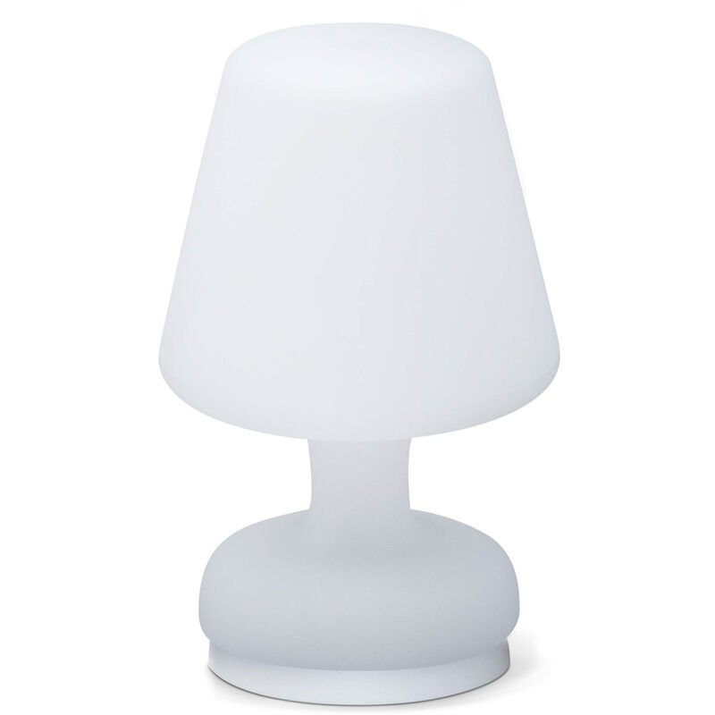 Image of Portable table LED lamp 26cm, water resistant lamp, wireless charging, indoor and outdoor lamp