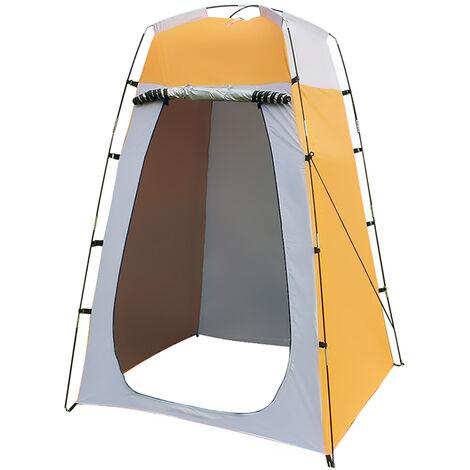 Portable Tente de Douche Camping Qdreclod Étanche Cabine de Changement Extérieur Tentes de Toilette Abri de Plein Air, 120 * 120 * 180 CM, Comprend Piquet de Tente, Poteau, Corde, Sac de Rangement