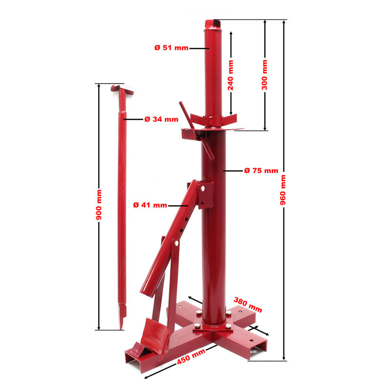 Manual Portable Tyre Changer Universal Wheel Tyre Mounting Demounting Tool with Changer Bead Breaker