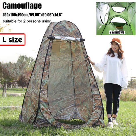 Portable Up Tent 150x150x190cm Camouflage Privacy Changing Room Outdoor Toilet Shower Dressing Camping