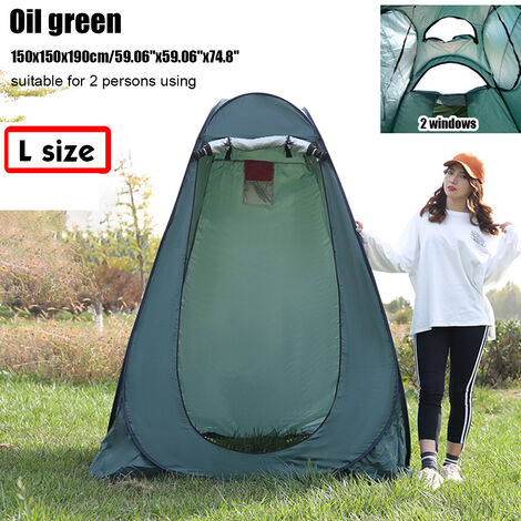 Portable Up Tent 150x150x190cm Oil Green Privacy Changing Room Outdoor Toilet Shower Dressing Camping