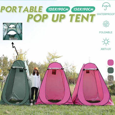 Portable Up Tent Privacy Vestiaire Toilette Extérieure Douche Dressing Camping (rosé, taille L)