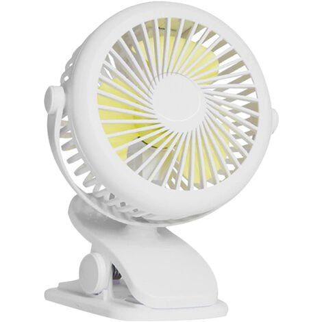 Portable Usb Ventilateur 3 Vitesses Mini Ventilateur De Bureau Pour Pc De Bureau Ventilateur De Refroidissement Pour Ordinateur Portable Silencieux Ventilateur, Blanc