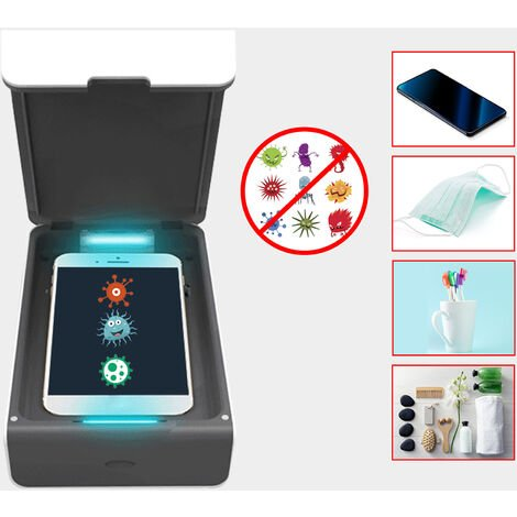 Portable UV Cell Phone Purified Box Mobile Phone Cleaner Box with Aromatherapy Function USB Cable