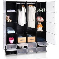 Portable Wardrobe Closet Modular Storage Organizer with Shoe Compartments