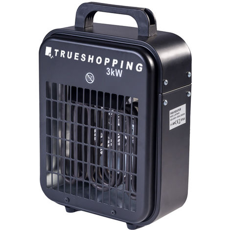 Portable Workshop Garage 3KW Electric Fan Space Heater with 3-Heat Settings