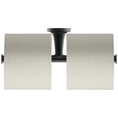 Portabobinas de papel Duravit Starck T doble 009938, color: Negro Mate - 0099384600