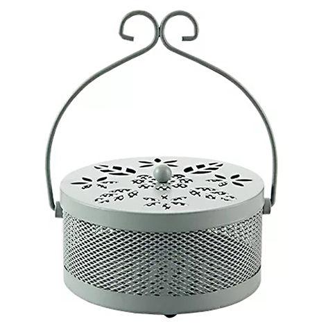 Portabobinas para mosquitos, caja de incienso repelente de mosquitos, con tapa,gris