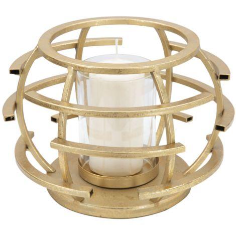 Portacandele oro candela in ferro e vetro decorazioni casa glamour STICK