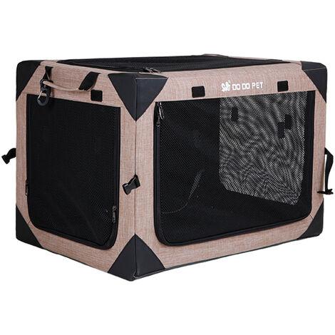 Portador de viaje para mascotas Portatil Gato Perro Jaula Tela Oxford Malla Red Multifuncion Plegable Impermeable Ventilar Bolsa de almacenamiento para acampar al aire libre, XL