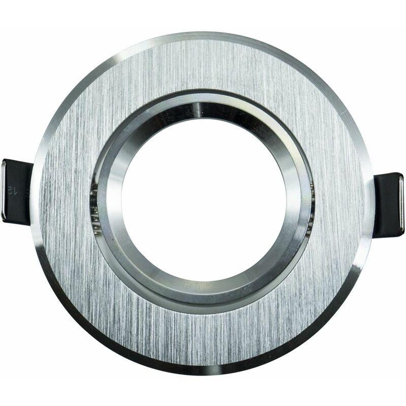 Portafaretto a incasso rotondo grigio orientabile a molla controsoffitto LM-1607