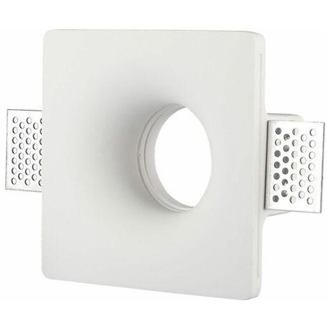 Portafaretto incasso scomparsa in gesso LED GU10 Φ120mm-rotondo 3640