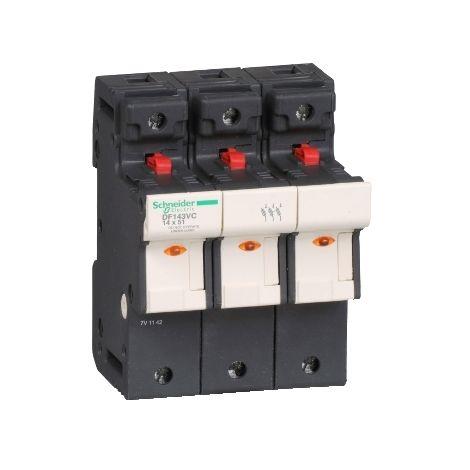 PORTAFUSI 3P 50A 14 X 51 MM SCHNEIDER ELECTRIC DF143VC